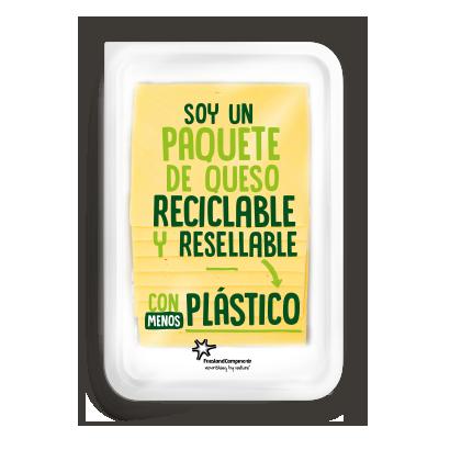 Paquete de queso reciclable